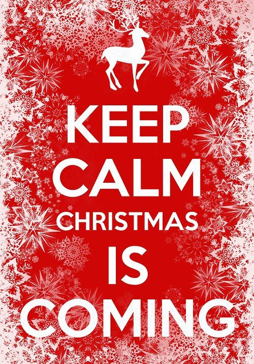 Keep Calm Christmas Poster